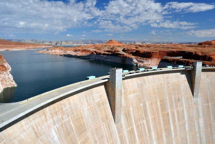 Hoover Dam (of Hooverdam) in Arizona