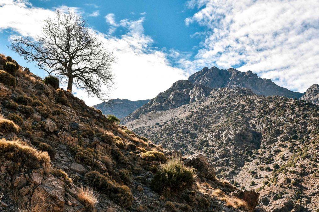 Jebel Toubkal berg in Marokko