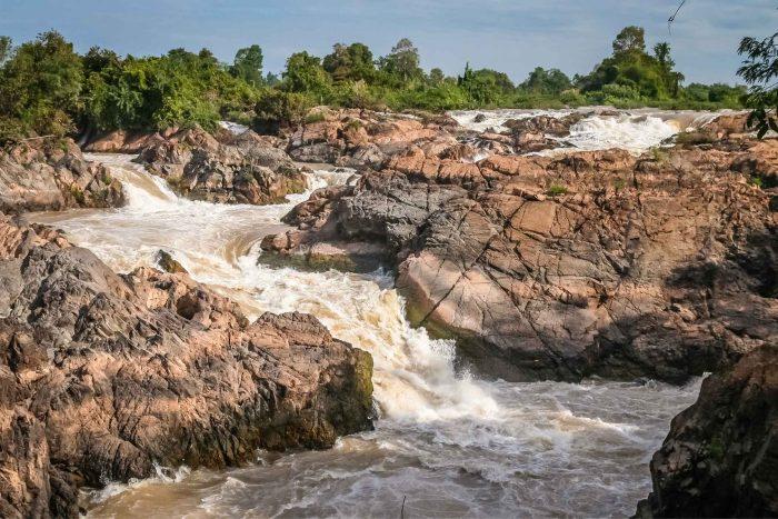 Khone Phapheng watervallen bij Si Phan Don