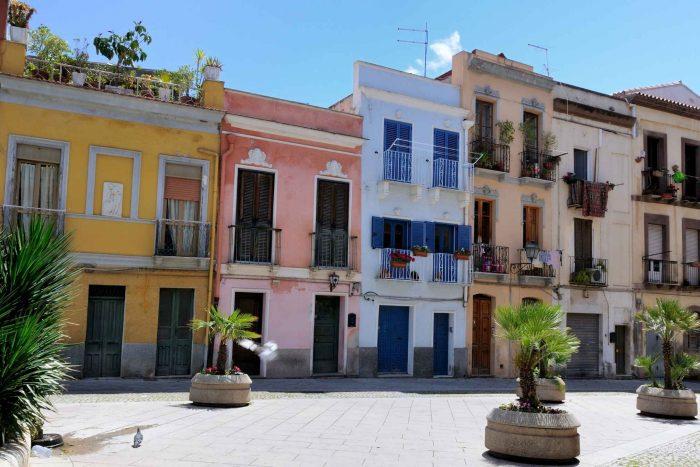 Kleurrijke huizen in Cagliari