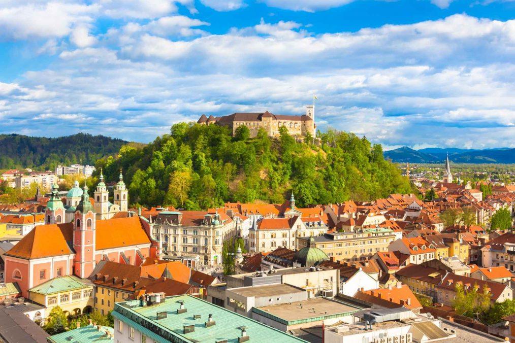 Ljubljana in Slovenië