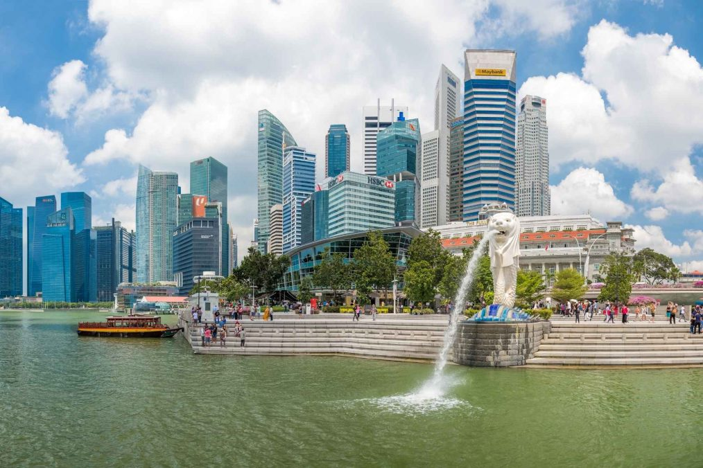 Merlion Park in Singapore