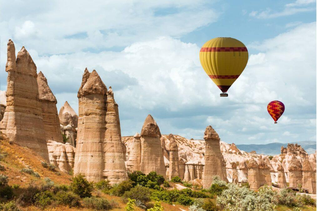 Met de luchtballon boven Cappadocië