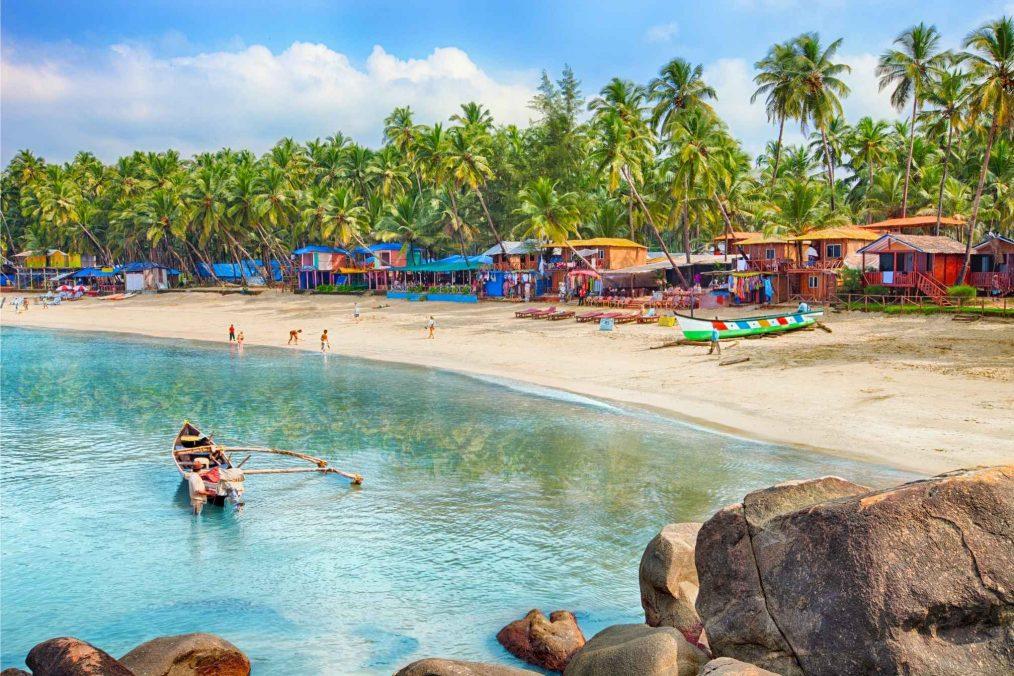 Palolem beach op Goa