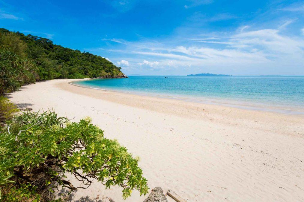 Prachtig wit strand op Koh Ta Tiev
