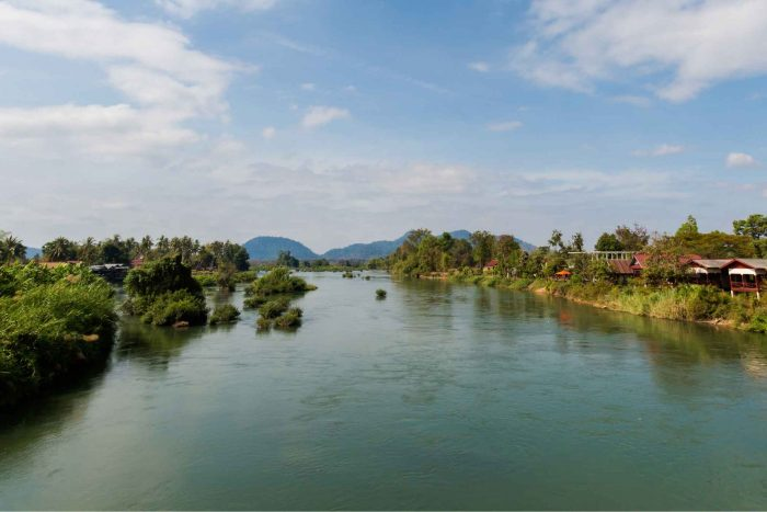 Si Phan Don (4000 eilanden) in Laos