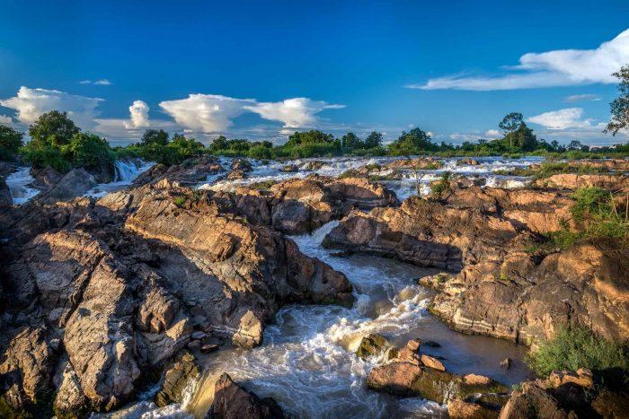 Somphamit (Li Phi) watervallen op Don Khon