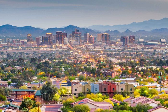 Stad Phoenix in Arizona