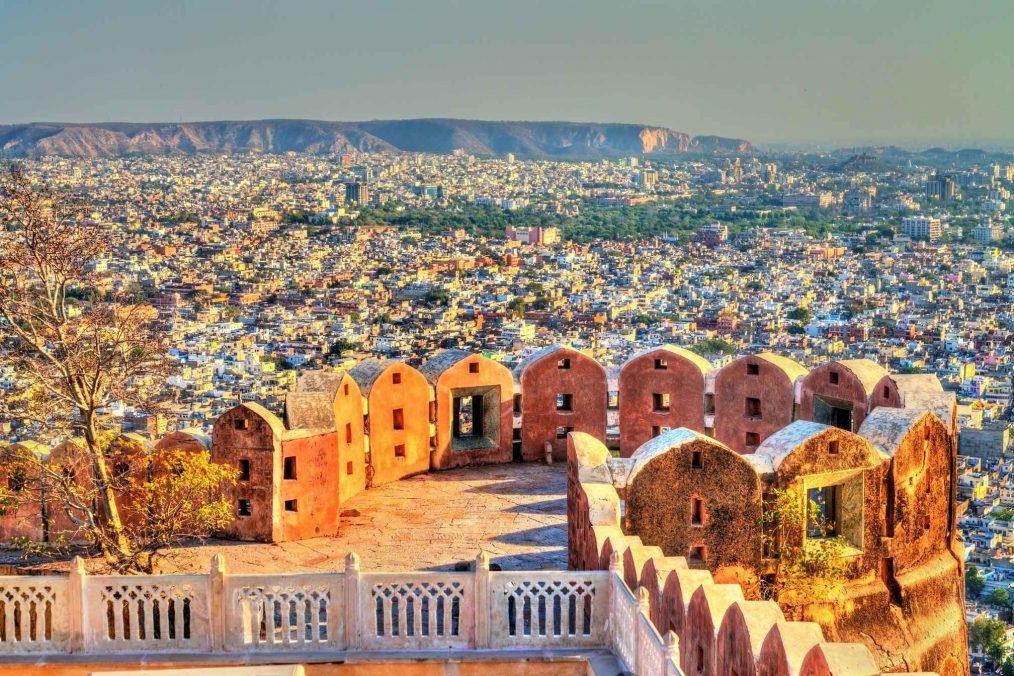 Uitzicht over Jaipur