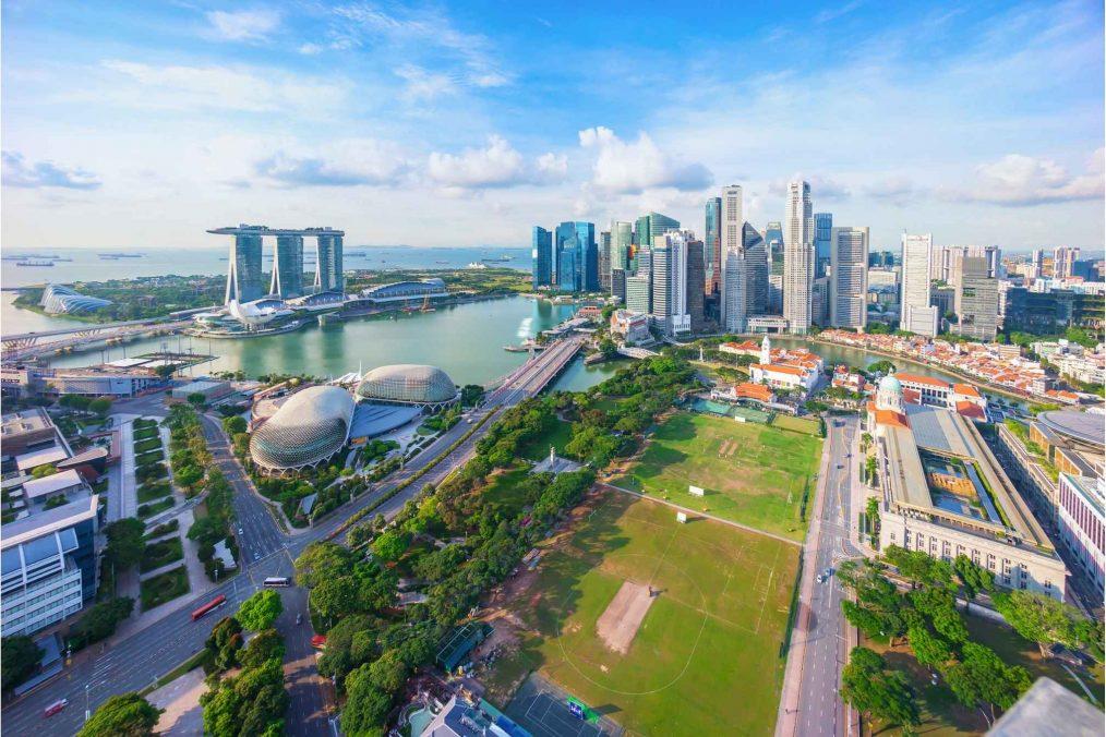 Uitzicht over Singapore
