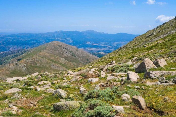 Uitzicht vanaf het Gennargentu gebergte