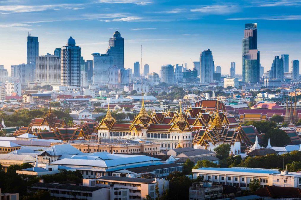Zonsopkomst in Bangkok