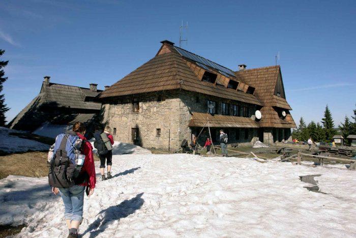 Backpacker hostel in de bergen