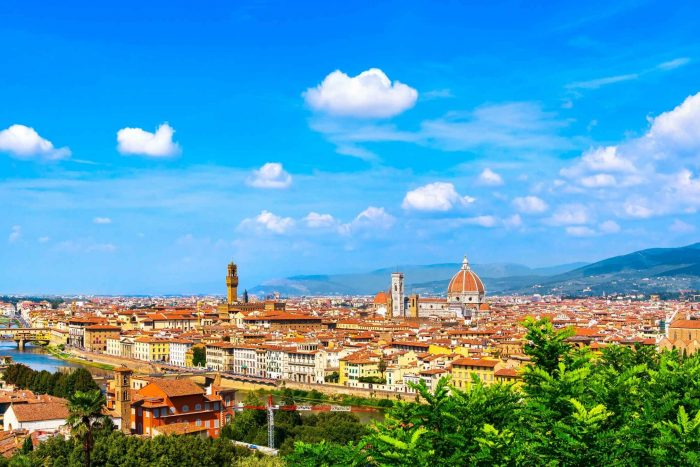 Florence in de zomer