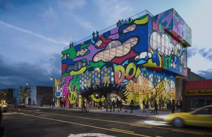 Straatkunst in The Belt (Detroit)