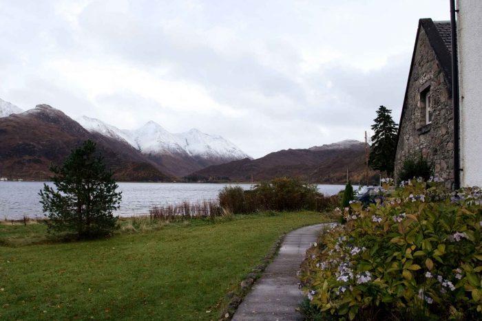 Uitzicht vanaf hostel in de bergen