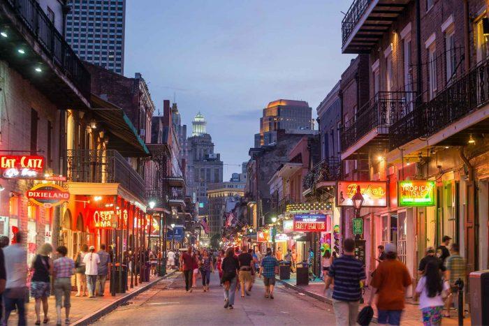 Avond uit in New Orleans