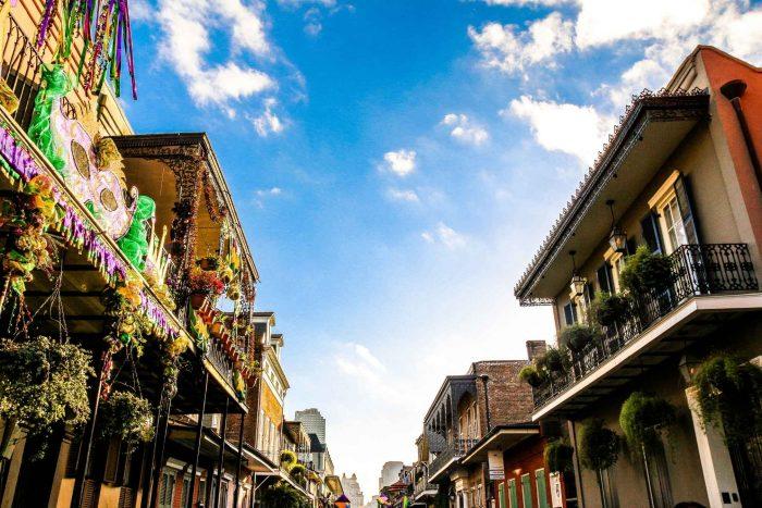 Gezellig straatjes in New Orleans