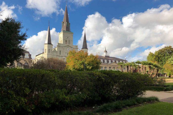 Saint Louis Kathedraal in Jackson Park, New Orleans