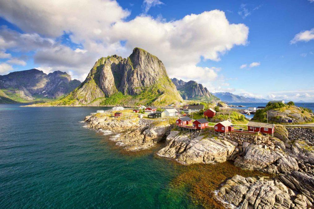 De gezellige Lofoten-eilanden in Noorwegen