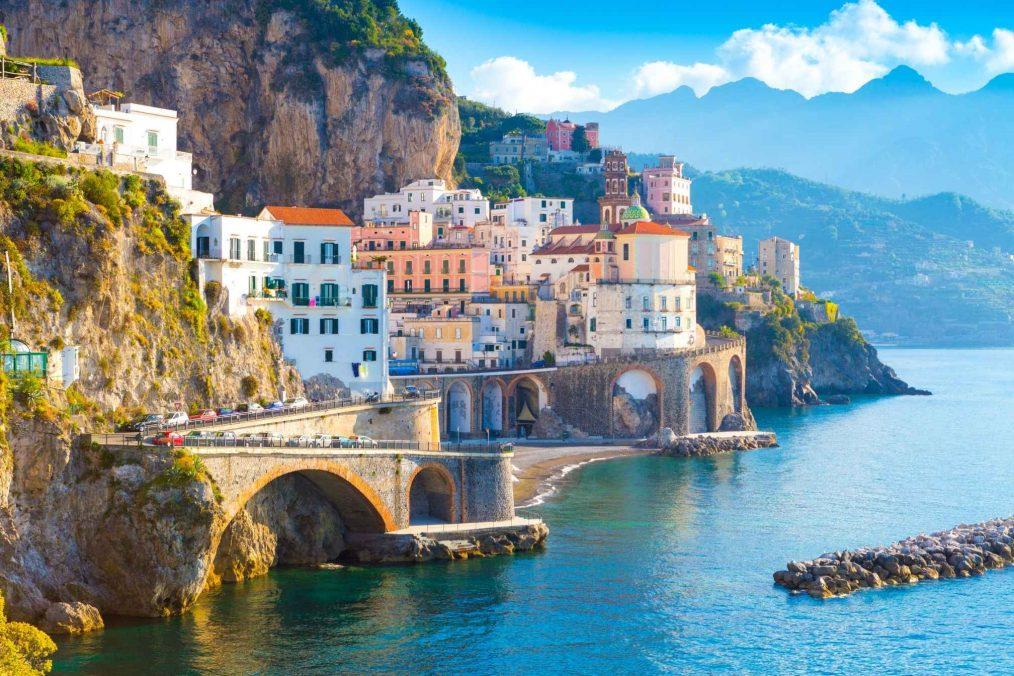 De kuststrook van Amalfi