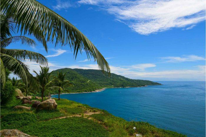De prachtige zee bij Da Nang