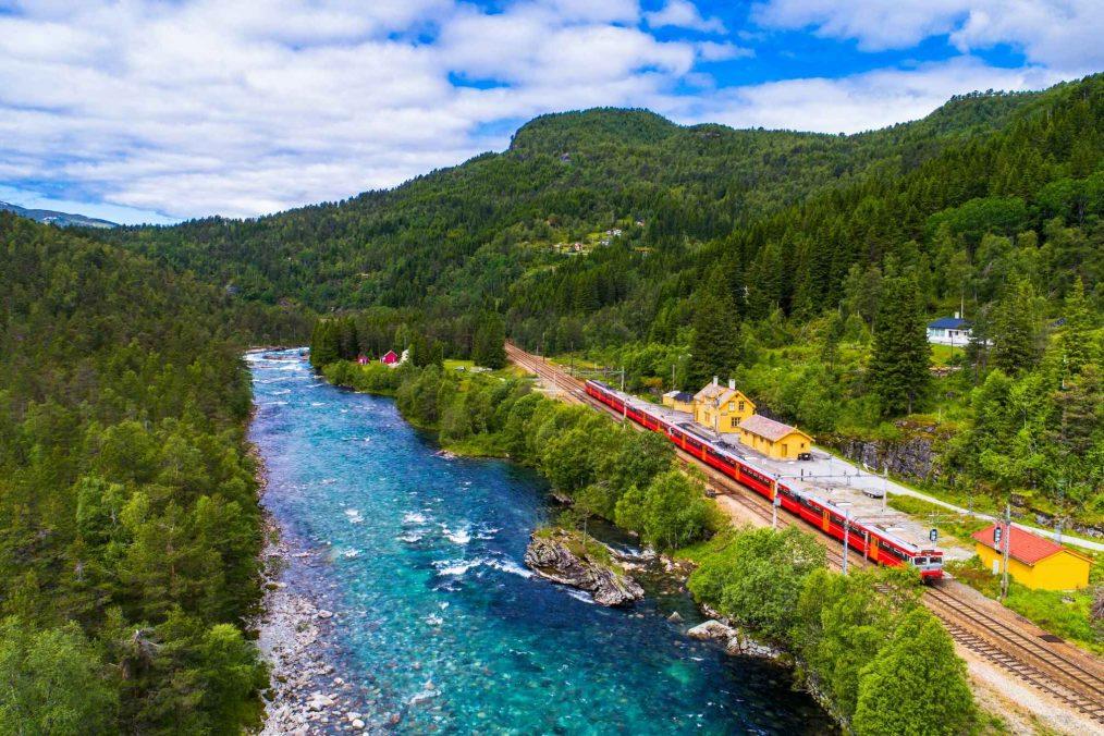 De trein van Oslo naar Bergen