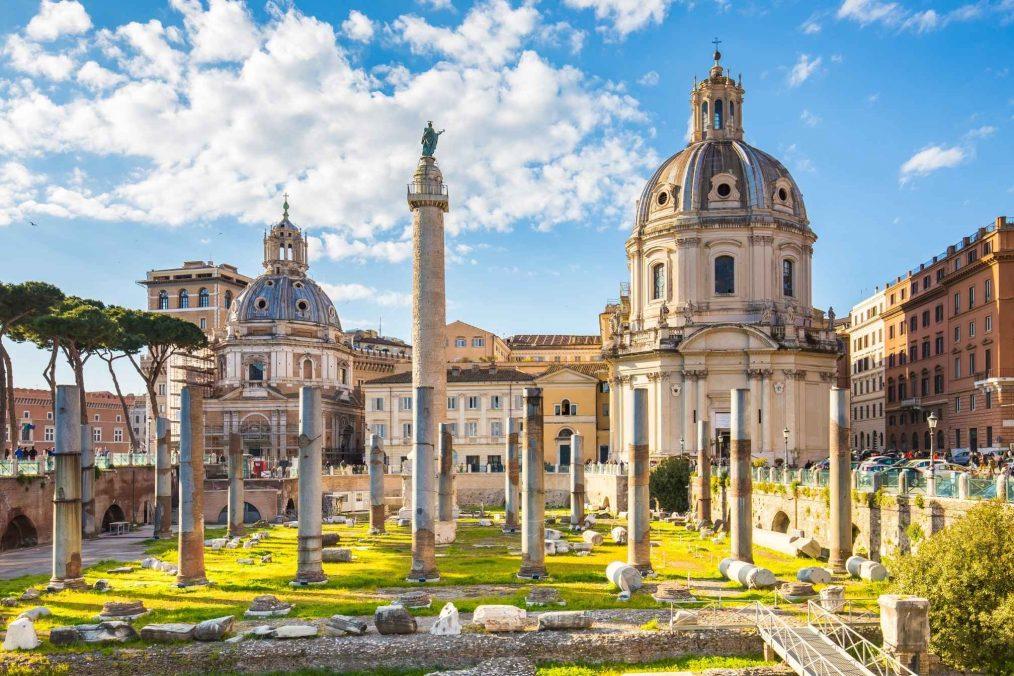 Trajan's Forum in Rome, Italië