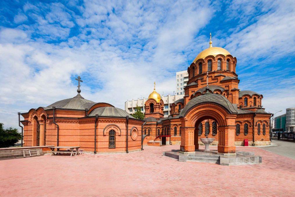 Alexander Nevsky kathedraal in Novosibirsk