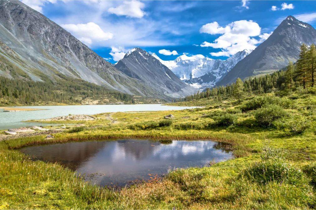 Altay-gebergte in Siberië