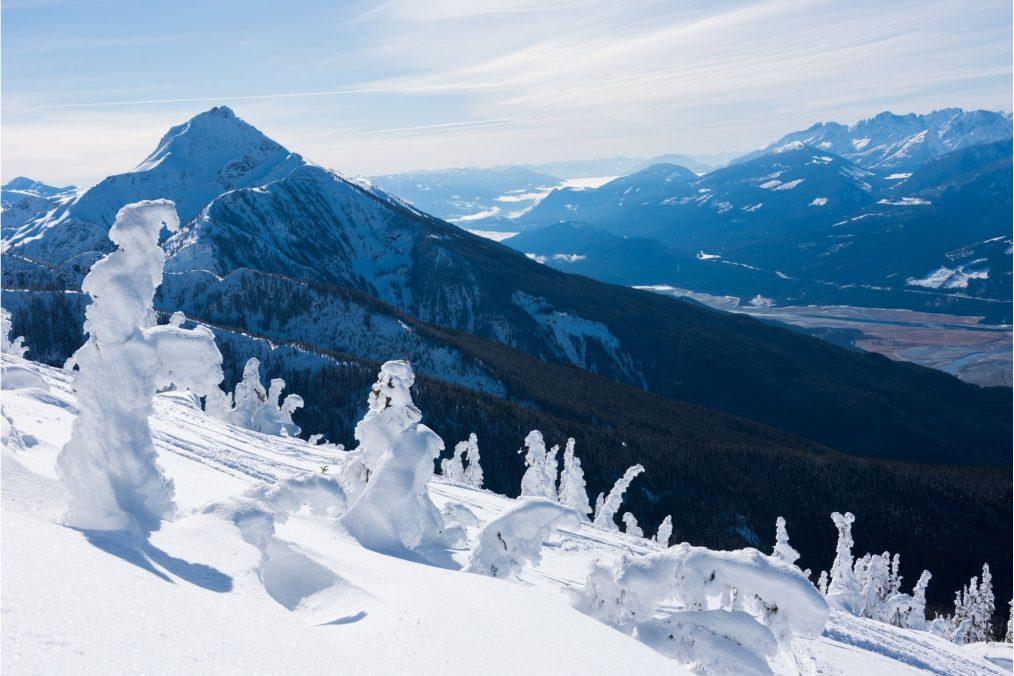 Besneeuwde bergen van Revelstoke