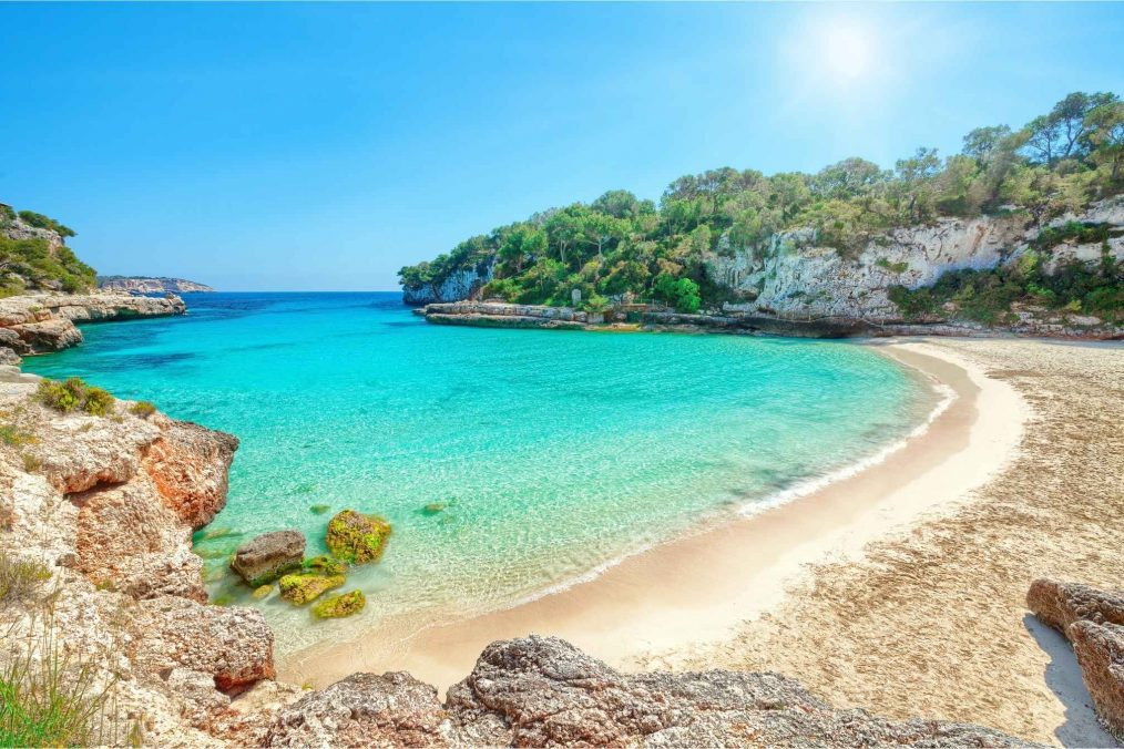 Strand Cala Llombards op Mallorca in Spanje