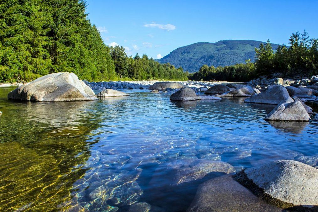 De Fraser rivier in British Columbia