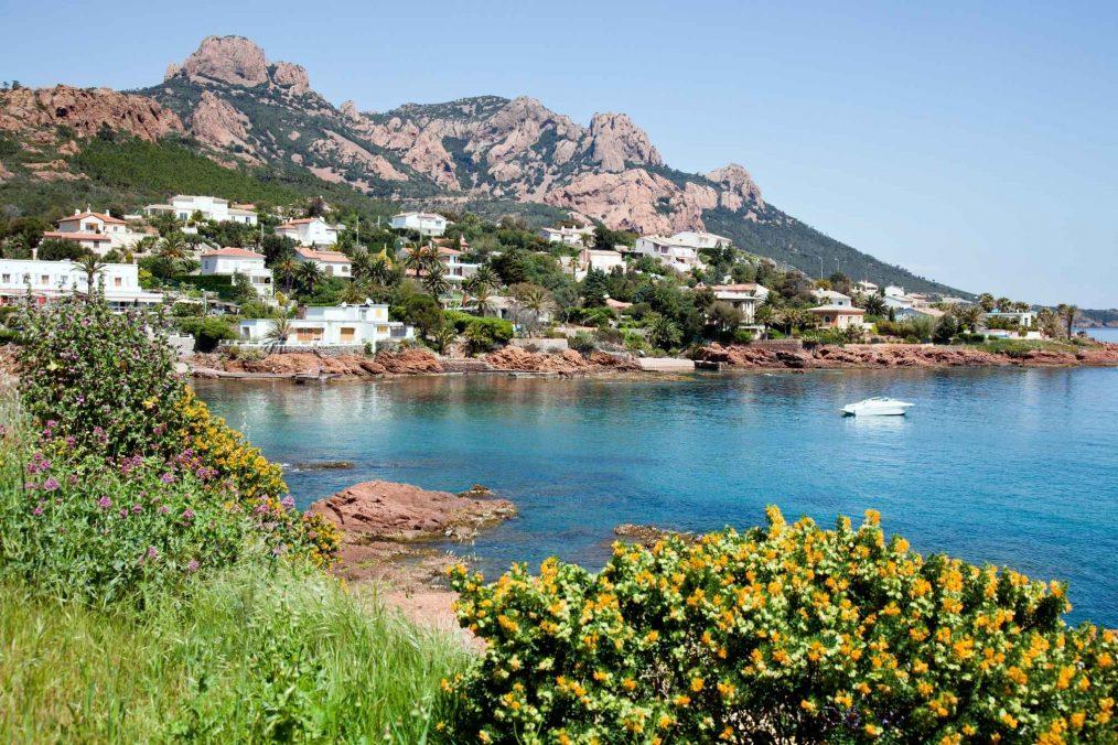 De kust van de Côte d'Azur