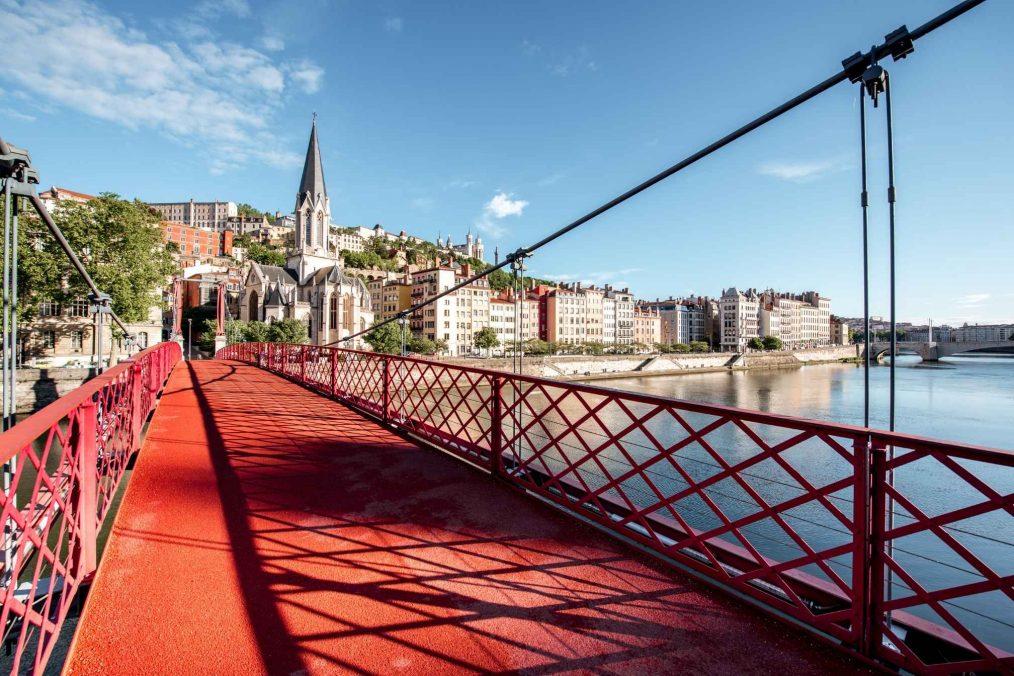 De stad Lyon in Frankrijk