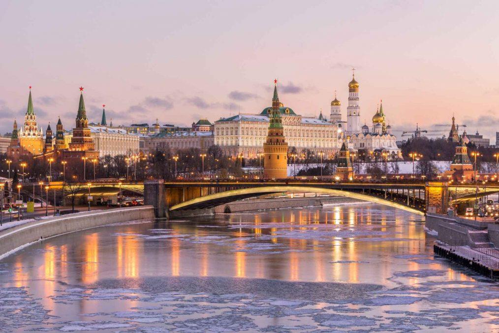 Het Kremlin in Moskou in de winter