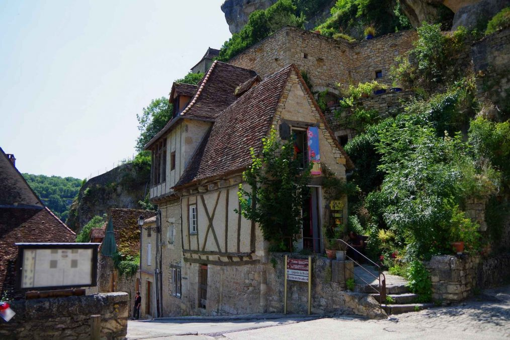 Het middeleeuwse Rocamadour in Frankrijk
