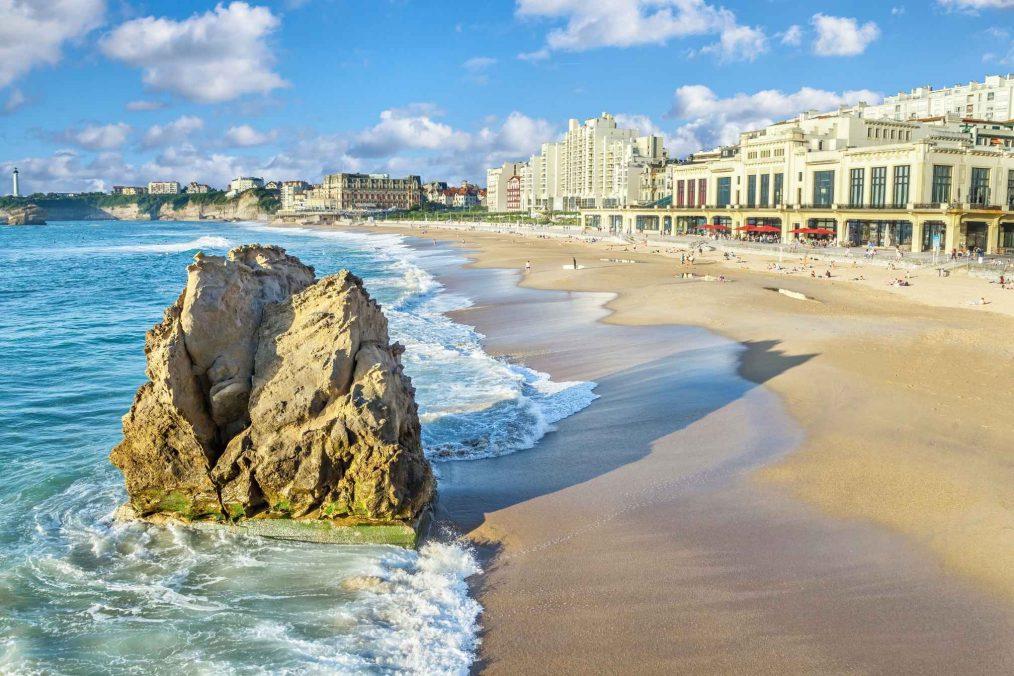 Het strand van Biarritz
