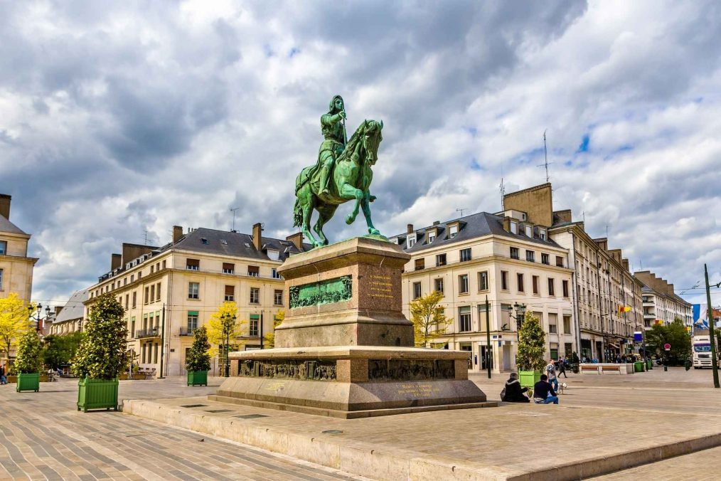 Jeanne d'Arc monument in Orleans