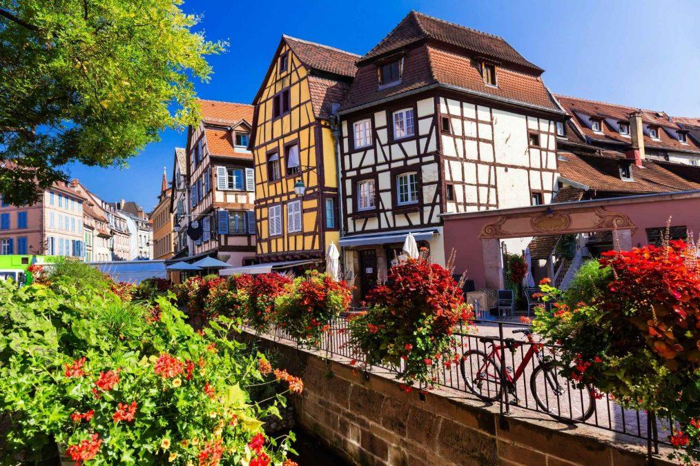 Kleurrijk dorp in de Elzas