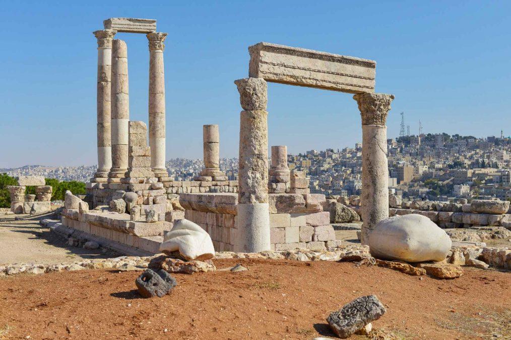 Romeinse ruïnes in Amman