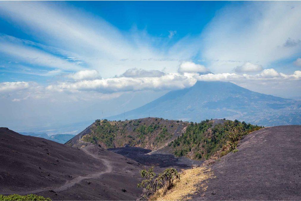Top van de Pacaya-vulkaan