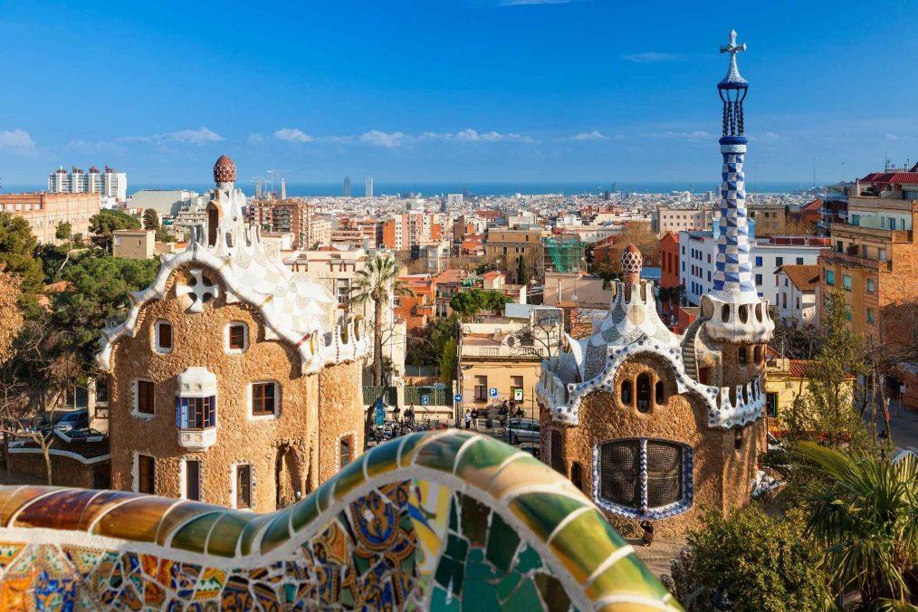 Uitzicht over Barcelona vanaf Park Guell