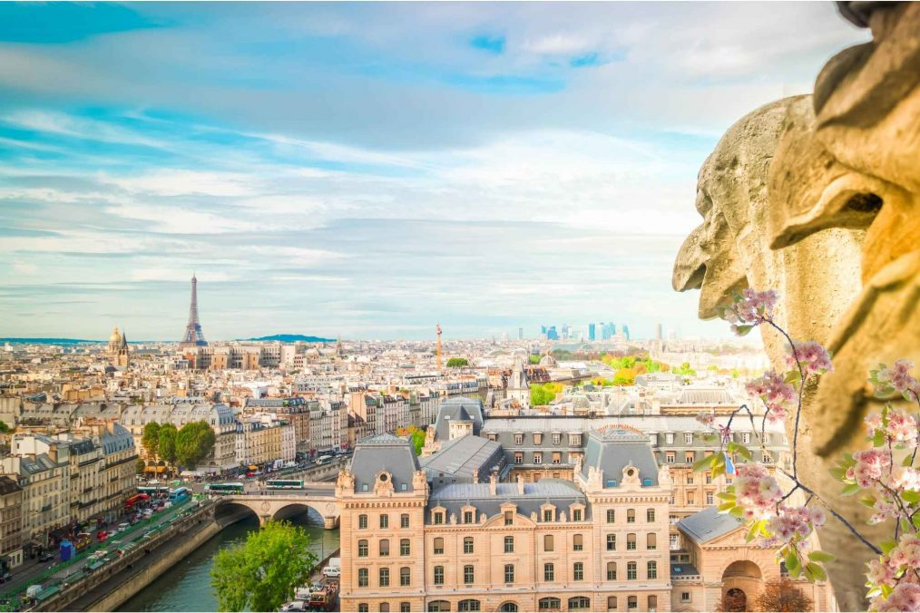 Uitzicht over Parijs en de Eiffeltoren