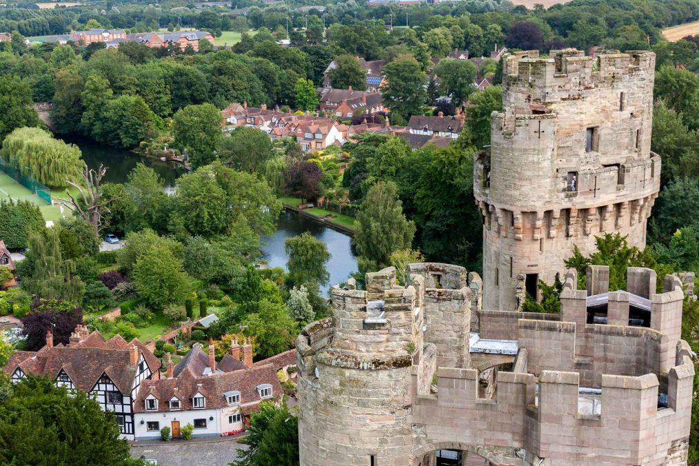 Uitzicht vanaf Warwick Castle