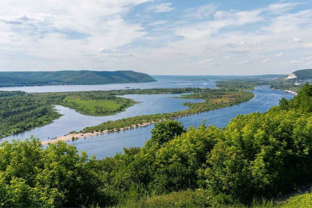 Wolga rivier in Rusland