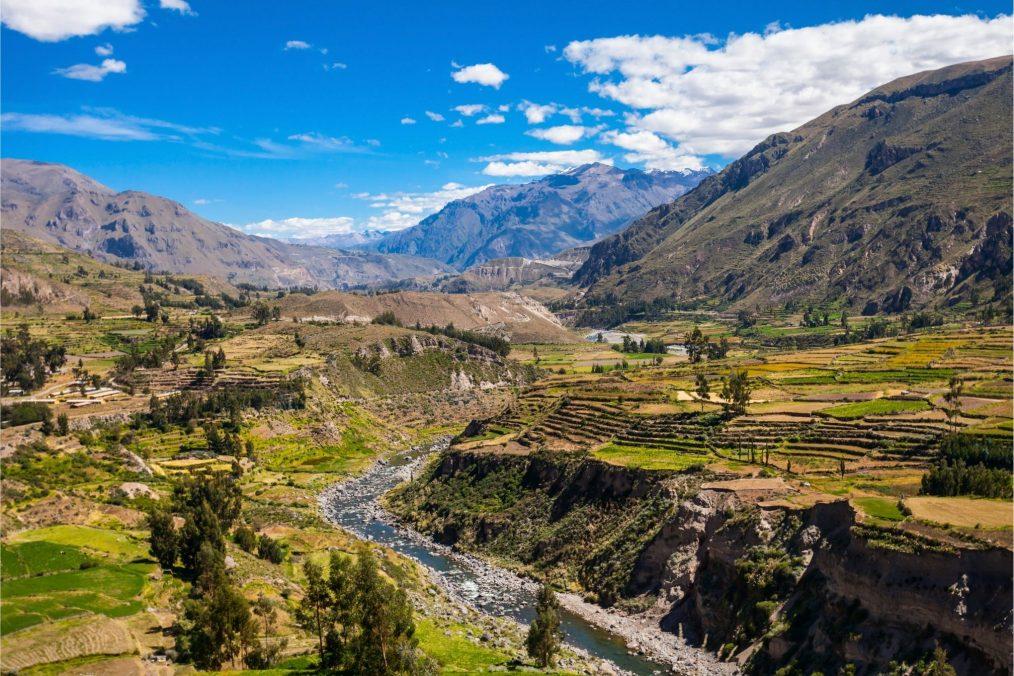 Colca kloof in Peru
