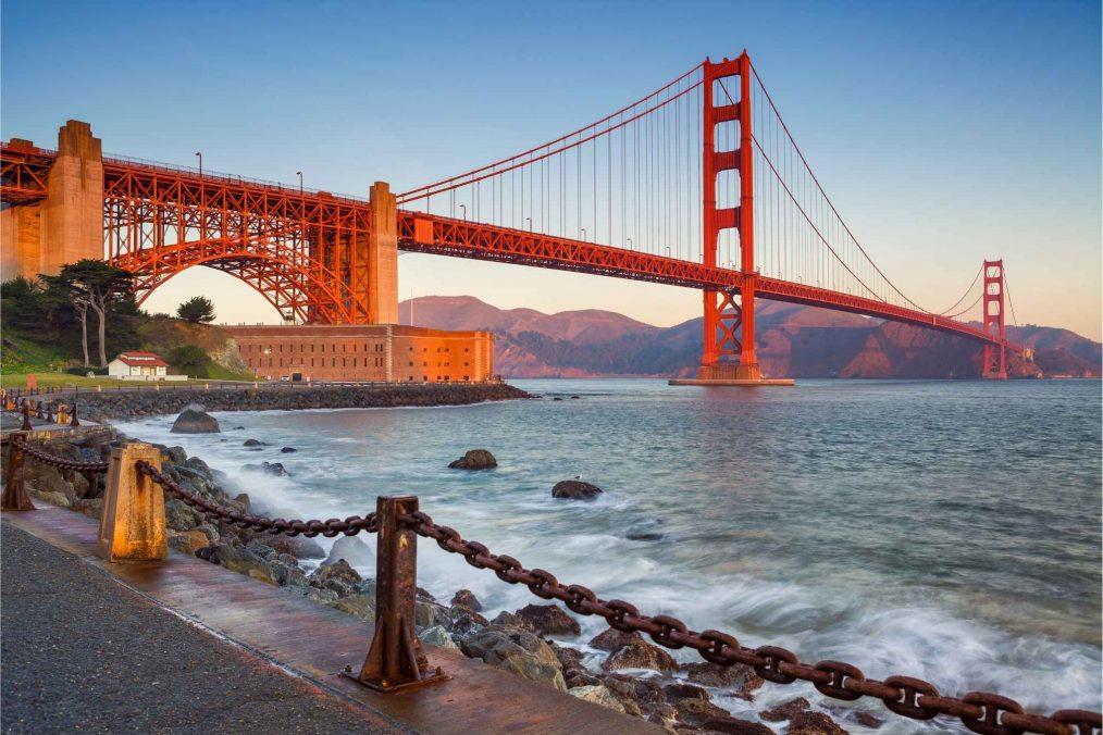 De Golden Gate brug van San Francisco