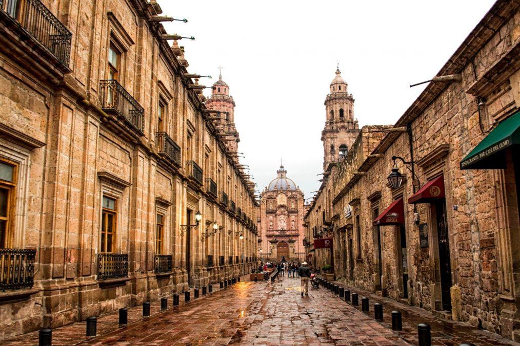 De historische straten van Morelia