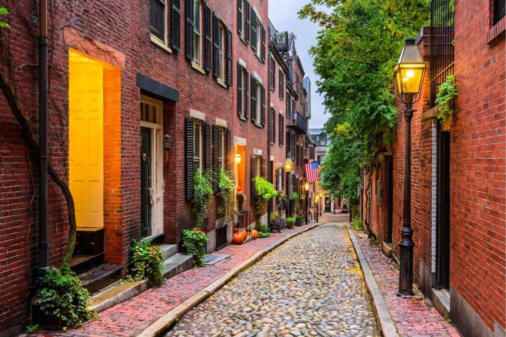De kleurrijke straten van Boston